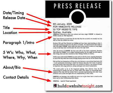 Image for Event press release template word
