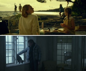 These two scenes in Girl With The Dragon Tattoo, display examples of contrasting looks within a film